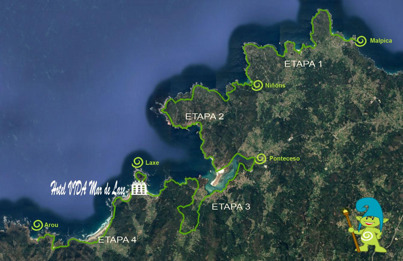 Mapa VIDA Laxe Camiño dos Faros